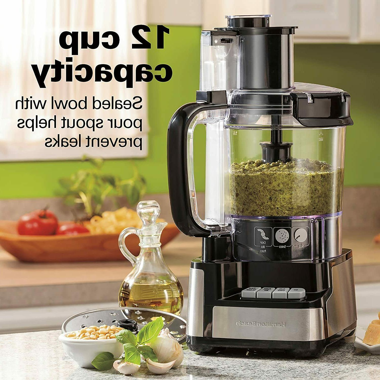 12-Cup Stack and Snap Food Processor Vegetable Chopper Grate