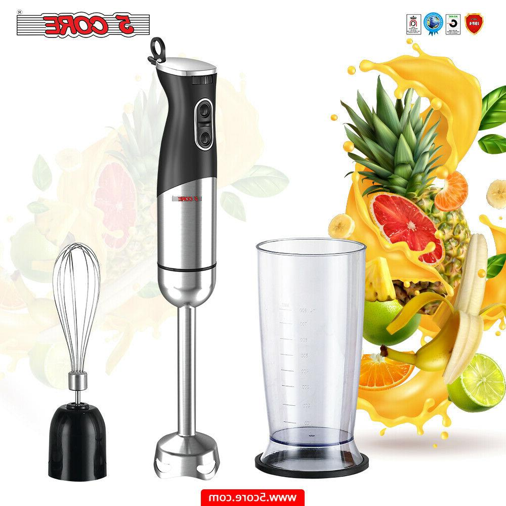 5 Core Hand Blender 400 WT 2-Speed 9 Modes Immersion S.Steel