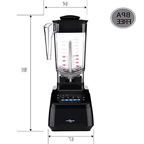 Hephaestus Smoothie Speeds Mixer Food Processor 70 oz Tritan 1500 Watt,