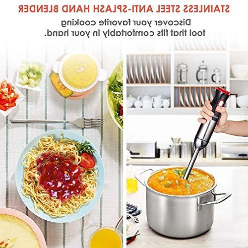 Immersion Blender, Hand Stick Speed Powerful Hand Sets Soups Baby Mixer