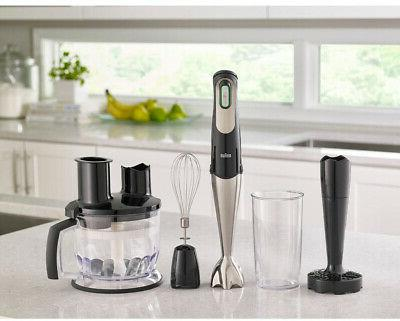BRAUN Hand Blender w/ Food Processor,