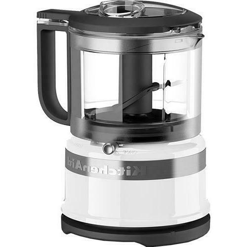 KitchenAid KFC3516WH 3.5 Cup Mini Food Processor, White