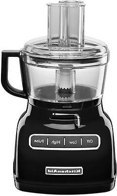 KitchenAid KFP0722OB 7-Cup Food Processor with Exact Slice S