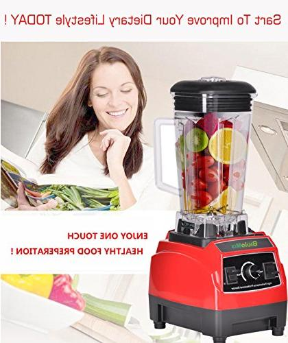 Kitchen Processor,High Speed 43,000RPM,2200W,Commercial Mixer Protein Frozen Fruit Drinks