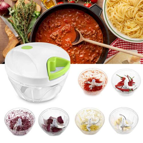 Kitchen Mini Slicer Manual Food Processor Bowl Choppers Mixe