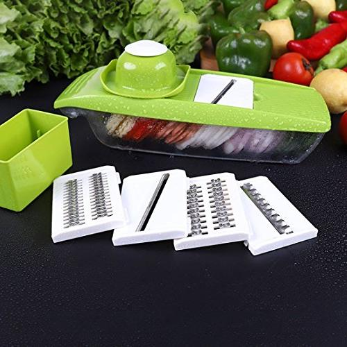 Mandoline Vegetable Cutter Food Processor Replaceable Blades Protector Cutter Grater Potato Tomato