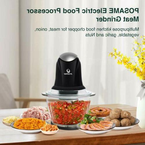 POSAME Grinders Electric Food Kitchen Chopper Vegetable