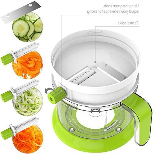 LOVKITCHEN Multi-functional Manual Food Shredder, Grinder, Juicer, Mandoline Slicer With
