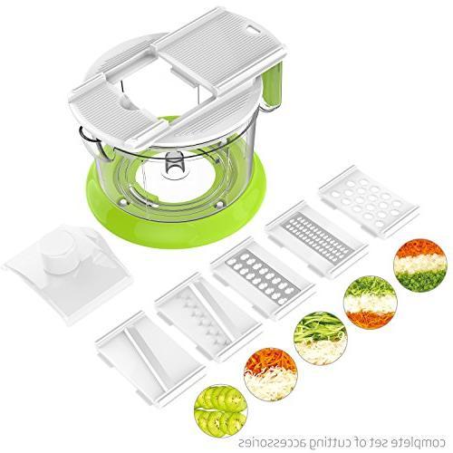 LOVKITCHEN Multi-functional Spiral Slicer Set Hand Manual Food Processor/Chopper, Shredder, Meat Grinder, Citrus Juicer, With