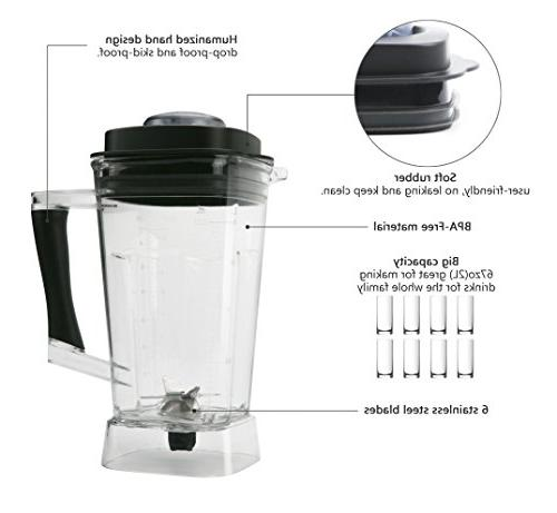 SKG Multifunctional Commercial Blender Power with display panel,8 Pulse 1400W,Black Silver