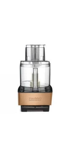 NEW! CUISINART 14 Cup Copper Stainless Steel Food Processor
