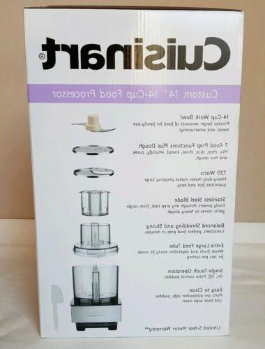 NEW Cuisinart 14-Cup Steel Silver