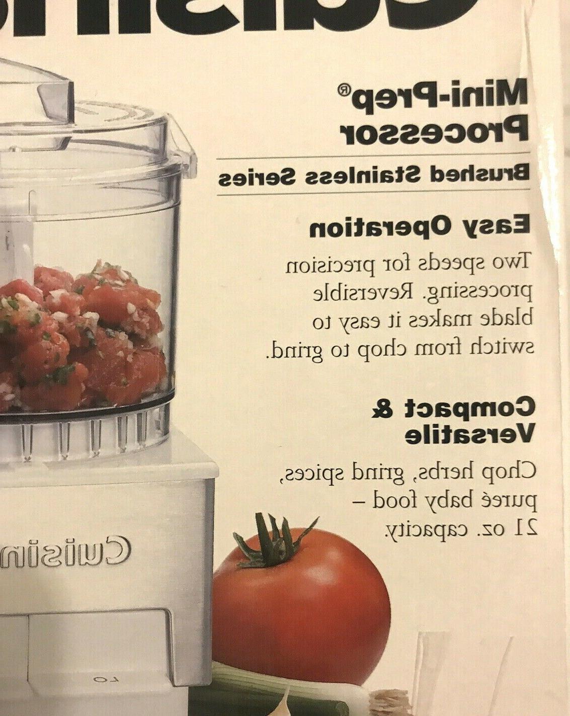 New In Cuisinart DLC-1 Mini Food Steel