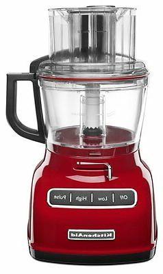 New KitchenAid KFP0933ER 9-Cup Food Processor with Exact Sli