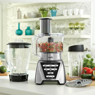 NEW Oster Plus Smoothie Food Processor Brushed Nickel