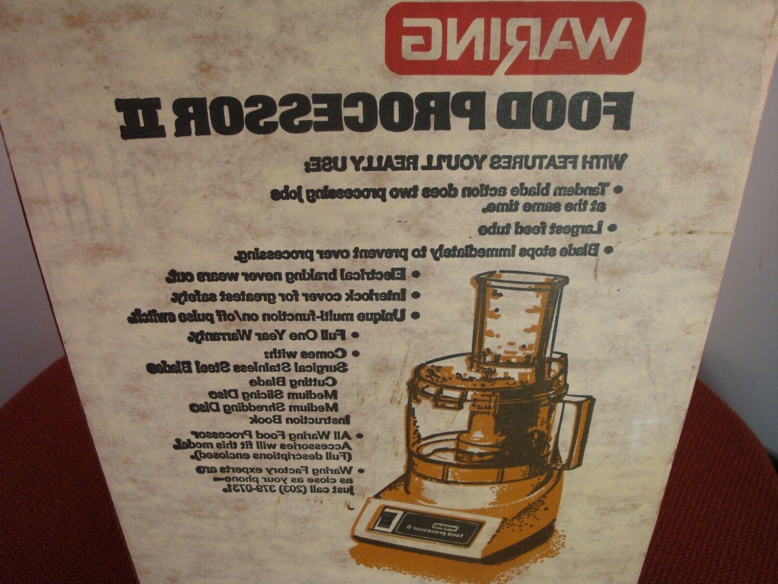 New Waring Food Processor II color