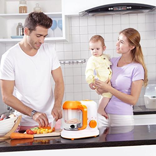 Portable Baby Food Processor Steamer One Time-Saving Baby Machine