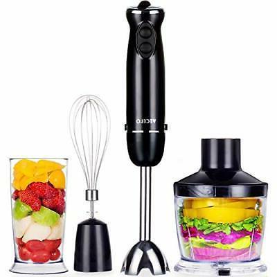 premium immersion hand blender set with food