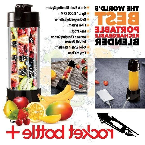 rocket bottle plus portable food blender processor