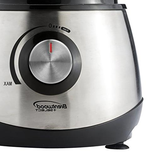 BRENTWOOD Food Processor, Silver