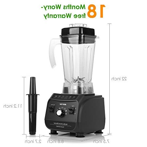 BESTEK Professional Shakes Multi-Function Smoothie Pre-programmed Processor with