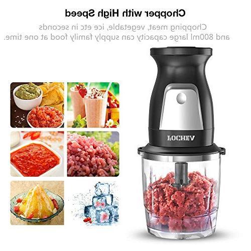 Smoothie Fochea 300W Professional Food Multi-Function Kitchen System oz Chopper 20 oz BPA-Free