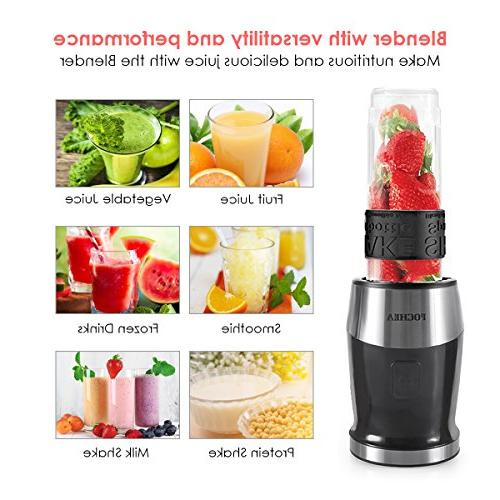 Smoothie Blender, Fochea In Processor Multi-Function High Speed with 570ml bottle, to Clean
