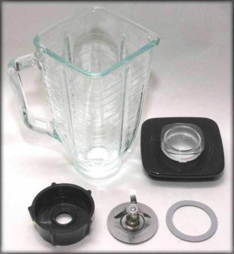 square complete glass jar replacement