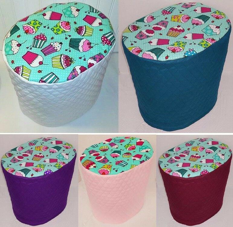 teal cupcake food processor cover 2 sizes
