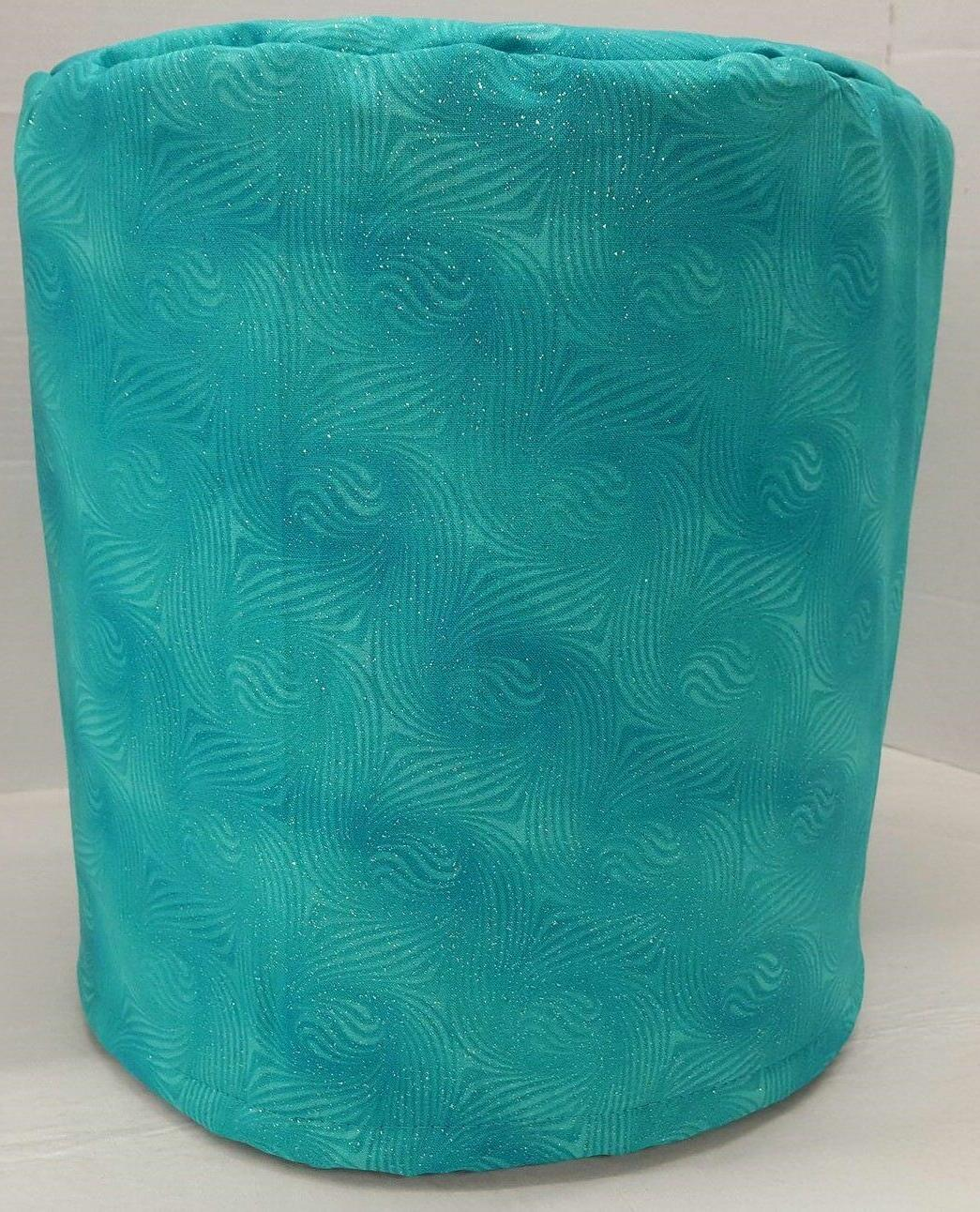 teal sparkle food processor cover 2 sizes