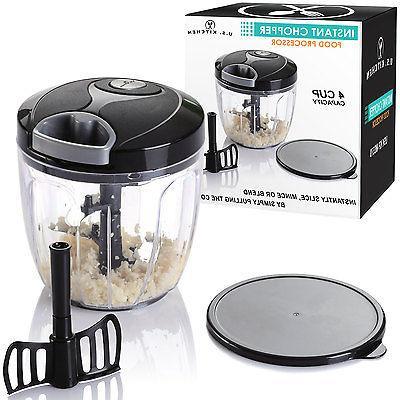 U.S. Supply 4 Cup Instant Chopper Food Processor Chop Vegetables