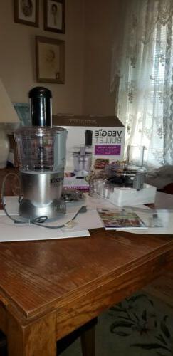 Veggie Bullet Electric Spiralizer, Shred, Slice & Food Proce