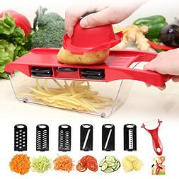 Linshing Multifunctional Manual Vegetable Food Shredder in 6