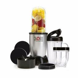 Magic Bullet Small Blender, Silver 11 Piece Set Multi functi
