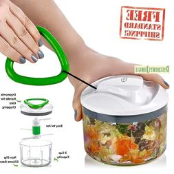 Manual Food Processor and Chopper - Easy Pull - Vegetable Sl