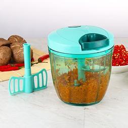 Valuetools Manual Food Processor Vegetable Chopper with 5 Bl