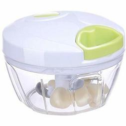 Manual Food Processors Chopper Hand-Powered With 3 Blades Fo