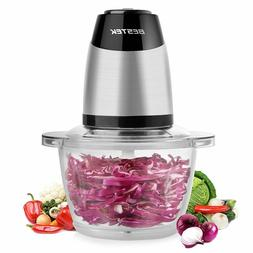 BESTEK MG14 Electric Food Chopper w/ 5-Cup Glass Bowl