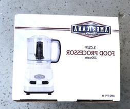 New In Box Americana Classics 3 Cup Food Processor