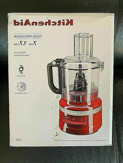 NEW IN BOX  ** KITCHEN AID  EMPIRE RED 7 Cup Food Processor