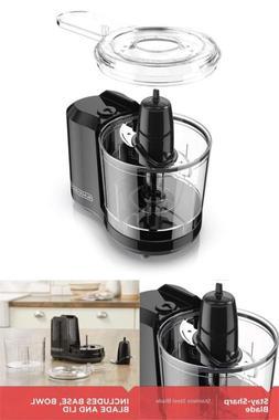 New Small Electric Food Chopper Food Processor Black 1,5 Cup
