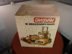 New Waring Vintage Food Processor II FP530-8  Almond/Chocola