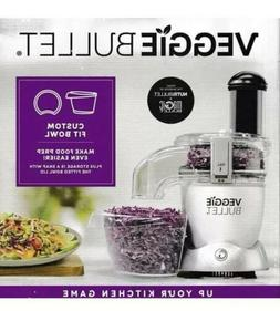 NIB Veggie Bullet 2 Piece Set Custom Fit Bowl & Lid Food Pro