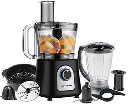 Ovente PF7007B Deluxe 12 Cup Multi-Function Food Processor w