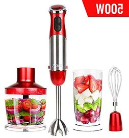 KOIOS Powerful 500 Watt Hand Stick Blender 500ml Food Proces