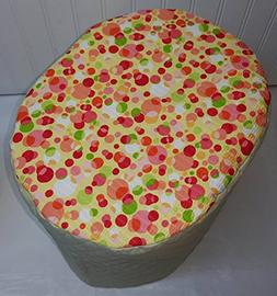 Quilted Orange & Yellow Polka Dots Food Processor Cover