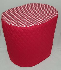 Red Checked Food Processor Cover