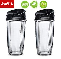 Replacement Nutri Ninja 24 oz Cup with Sip & Seal Lid - For