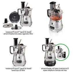 Stack & Snap 8-Cup 3-Speed Silver Food Processor With Built-