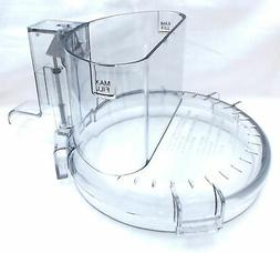Tritan Cuisinart Food Processor Work Bowl Cover W/ Lrg Feed